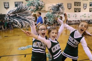 The Lexington School cheerleaders spread spirit