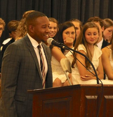 Dream. Struggle. Victory. Repeat. Chase Minnifield '04 Inspires TLS Graduates.