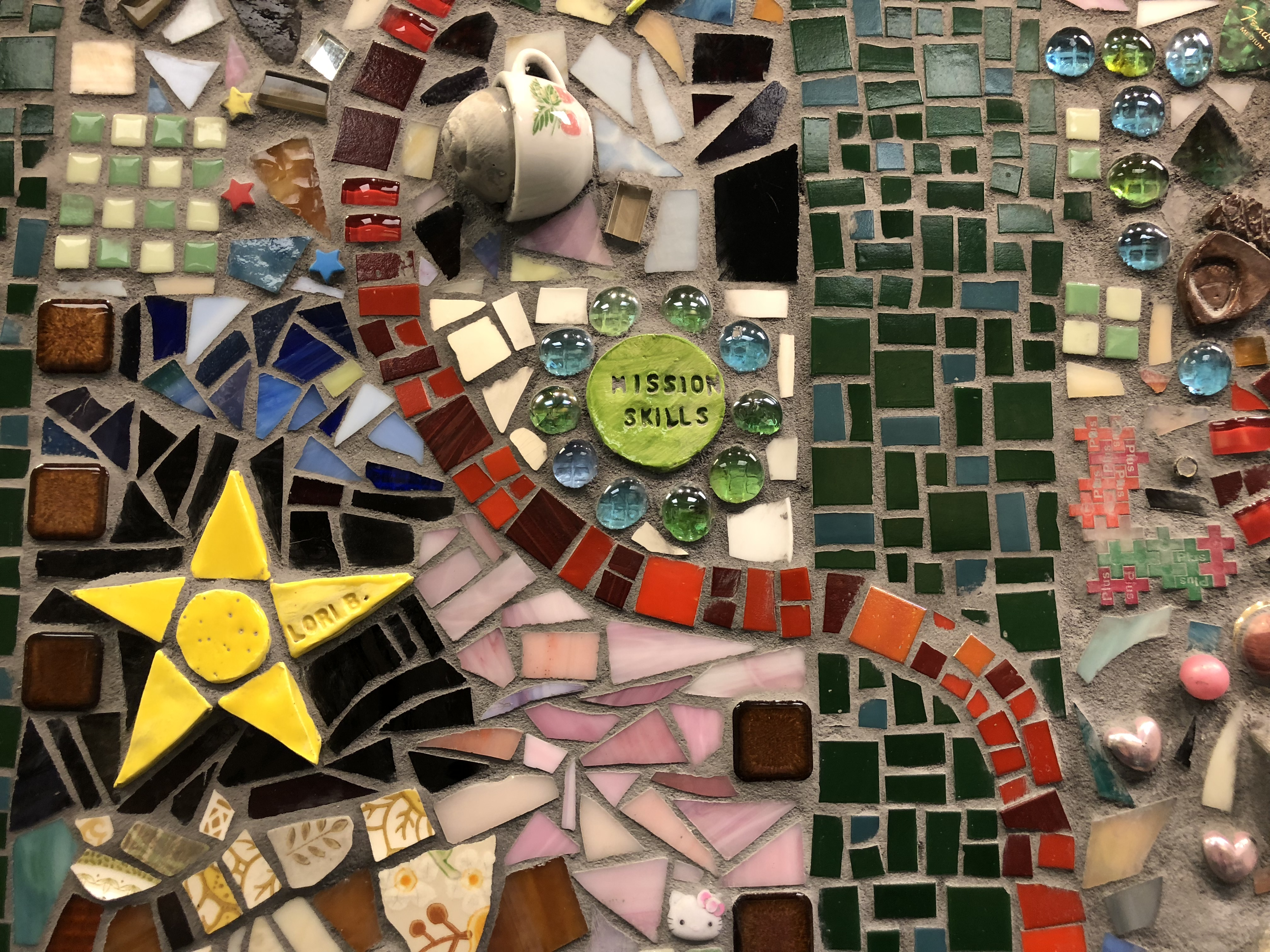 One Common Thread, mosaic mural means more than meets the eye at The Lexington School After School Fine Arts Program